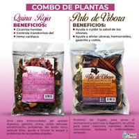 Quina Roja y Palo de Víbora Combo - 100% Orgánico y Natural de México