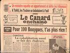 CANARD ENCHAINÉ Birthday Newspaper JOURNAL NAISSANCE 1 JUILLET JULY 1987