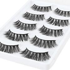 5 Pairs Real 3D Mink Natural Thick False Eyelashes Extension Eye Lashes Makeup