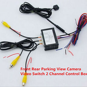 Universal Car Front Rear Parking View Camera Video Switch 2 Channel Control Box