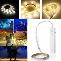 Battery Powered LED Strip Light Wireless PIR Motion Sensor Cabinet Lamp UK LO