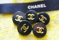 Five Stamped Chanel buttons 5 pieces   metal cc  0,8 inch 20 mm  💄