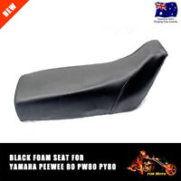 Yamaha PeeWee 80 Black Foam Seat for PW80 PY80 Dirt Pit Trial Bike and Replicas
