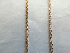 """14K Rose Gold Chain Necklace 18"""" Long with loops for 17"""" and 16"""""""