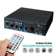 800W Bluetooth Audio Stereo Digital Amplifier Remote Control USB FM SD Home Car