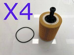 4X Oil Filters Suit R2615P Audi A3 A4 A6 Q5 Dodge Jeep Volkswagen Skoda Chrysler