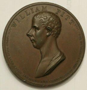 1806 DEATH OF WILLIAM PITT BRONZE MEDAL DIFFERENT REVERSE 53.5MM # C1789