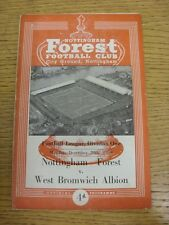 28/12/1959 Nottingham Forest v West Bromwich Albion  (folded, split spine, pin h