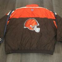 Vintage Starter 2XL Cleveland Browns NFL ProLine Heavy Winter Jacket Mens XXL