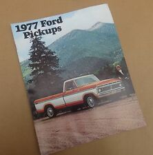 1977 FORD PICKUP TRUCK SALES BROCHURE & CATALOG- Ranger- F150- F250- F350*ORIG