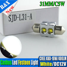 1x 31mm Festoon CANBUS FREE CREE XBD Xenon WHITE LED Interior light 12V No polar