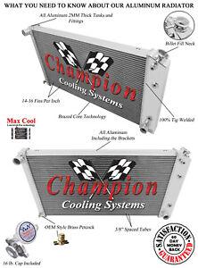 3 Row Performance Champion Radiator for 1977 - 1992 Cadillac Fleetwood Brougham