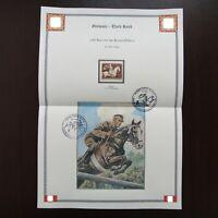 Germany Nazi 1943 Stamp MINT race horse Brown Ribbon WWII Third Reich Deutsches
