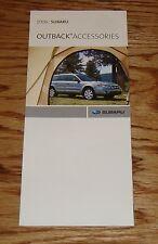 Original 2008 Subaru Outback Accessories Foldout Sales Brochure 08