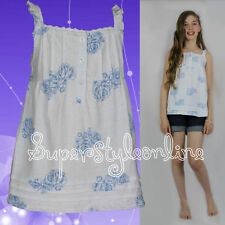 Girls' Floral 100% Cotton Strappy/Cami T-Shirts, Top & Shirts (2-16 Years)