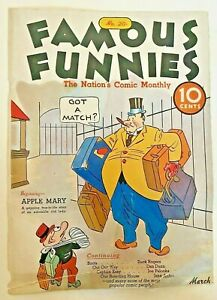 Famous Funnies #20 (Cover Only) Eastern Color Printing Company