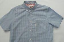 Ben Sherman Shirt Ribbon Red Check Button Collar Size Med