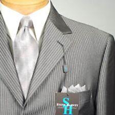 46R STEVE HARVEY  Dark Gray Striped  46 Regular Mens Suits - SH09