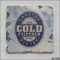Carlton Cold Filtered Bitter Beer Cold Filtration Coaster (B386)