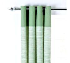 RRP £32.99 ARGOS 66x90 Green Norfolk Eyelet Long Curtains Ring Top Unlined