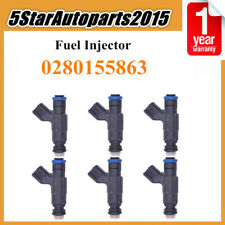 4pcs Fuel Injector Nozzle 0280155863 for 2000-2007 Jaguar S-Type Lincoln LS 3.0L