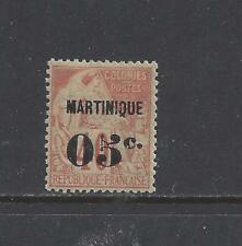 "MARTINIQUE - 16 - MH - 1891 - ""MARTINIQUE + 05c"" O/P ON FRENCH COLONIES STAMP"