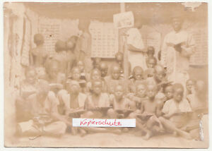 Photo Africa Boys IN School Colony Native American People Virgin Peoples (F2244