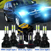 For Dodge Journey 2010-2018 2019 Combo LED Headlights High/Low +Fog Lights Bulbs