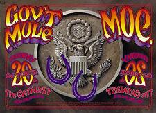 ORIGINAL MINT 2005 GOV'T MULE moe. SANTA CRUZ CONCERT POSTER RANDY TUTEN JC28
