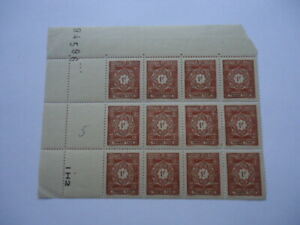 Algeria 1947 SGD287 1f Brown Corner Block of 12 MNH Postage Due