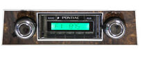 67 1967 68 1968 Firebird USA 230 AM/FM Radio Aux input MP3 Burlwood Bezel
