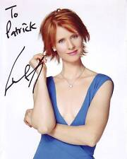 CYNTHIA NIXON Autograph Signed SEX AND THE CITY MIRANDA Photograph - To Patrick