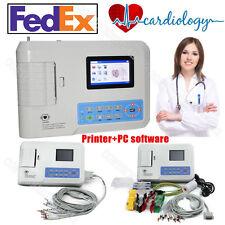 USA FDA  Digital 3 Channel 12 lead ECG/EKG machine+software Electrocardiograph