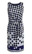 ESPRIT SatinKleid gepunktet 34 XS festlich Party Punkte Dress Etuikleid Kleid