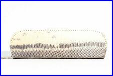 1940er SCHLANGEN LEDER Etui / Platz für 2 Füller / Case / mit Reißverschluss