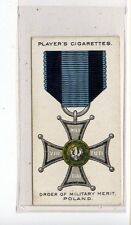 (Jd6855) PLAYERS,WAR DECORATIONS & MEDALS,ORDER OF MILITARY MERIT,1927,#78