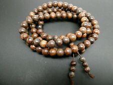 Genuine Agarwood Aloeswood Oud Malaysia Wood 8.5mm Mala Prayer Bead Strand