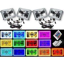 "4X6"" Color Change SMD LED Halo Angel Eye Headlight 6000K HID Light Bulb Set Of 4"