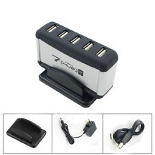 7 USB Port High Speed USB 2.0 HUB With AC Power Adapter For PC Laptop Durable