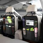 2x Car Back Seat Organiser Pad Tablet Holder Storage Kick Mats Kids Toys Bag