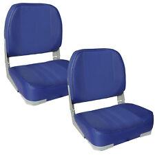 [PRO.TEC]® 2x Asientos barco azul sillas de cabina piel sintética plegables