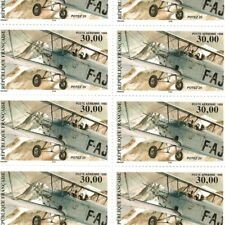PA N°_62 BIPLAN 1998 FEUILLE F62a 10 timbres luxes