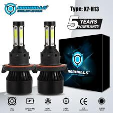 H13 4-Side LED Headlight Bulbs for Dodge Ram 1500 2500 3500 06-12 HI-LO Beam Kit