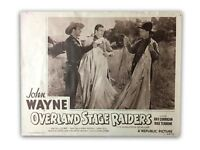 """""""OVERLAND STAGE RAIDERS"""" ORIGINAL 11X14 AUTHENTIC LOBBY CARD POSTER 1953"""