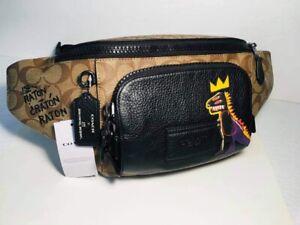 NWT C5422 Coach X Jean-Michel Basquiat Track Belt Bag in Signature Canvas