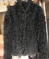 Karen Millen Ltd Ed Atelier Sheepskin Shearling Knit Coat/Jacket sz XS Au 8