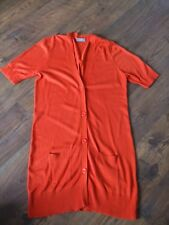 D Womens Size 18 Orange Long Cardigan LADIES WORK EVENING SMART SUMMER WINTER