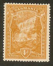 TASMANIA 1909 4d Russell Falls, perf 12 1/2. orange-buff shade (SG 247b), MLH