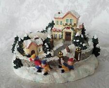 Pfaltzgraff Winterberry Scenic Village Christmas Tealight Votive Candle Holder