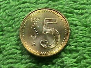 MEXICO 5 Pesos 1985 MINT SET UNC `
